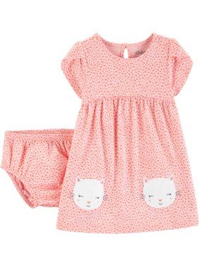 Short Sleeve Dress and Diaper Cover (Baby Girls)