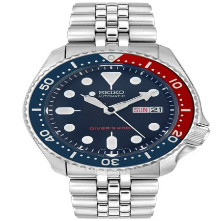 Seiko Men's Automatic Stainless Steel Navy Blue Dial Diver Watch SKX009K2 - Mens Automatic Blue Dial