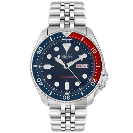 Seiko Men's Automatic Stainless Steel Navy Blue Dial Diver Watch SKX009K2 (Diver Watch Orange Dial Strap)