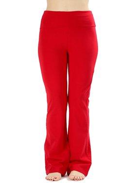 JED FASHION Women's Ultra Stretchy Fold-Over Waist Yoga Pants