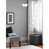 Mainstays Floor Lamp with Bulbs Included, Black