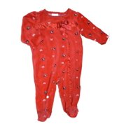 bd49d9b44f Infant Girls Red Velour Scottie Dog Blanket Sleeper Baby Footed Pajamas