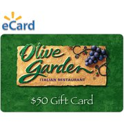 Olive Garden $50 Gift Card (email Delivery)
