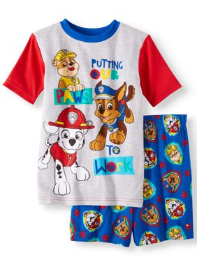 Boys' Paw Patrol Cotton 2 Piece Pajama Sleep Set (Little Boy & Big Boy)
