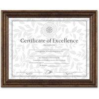 DAX Antique Colored Document Frame w/Certificate, Plastic, 8 1/2 x 11, Bronze