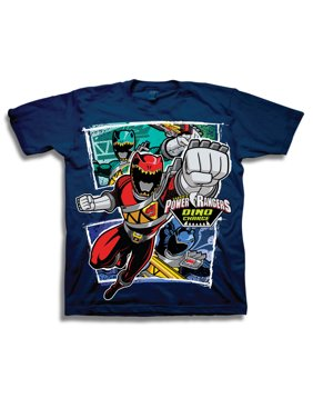 """Boys' """"Dino Charge"""" Character Panels Short Sleeve Graphic T-Shirt"""