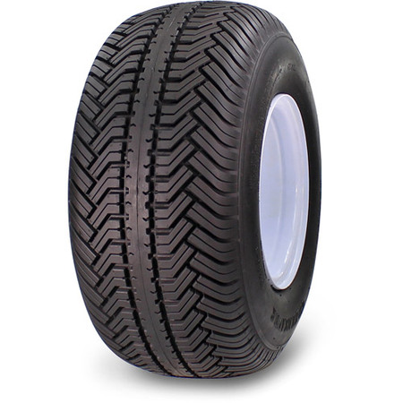Greenball Greensaver Plus 18X8.50-8 4 PR Golf Cart Tire and Wheel 4 lug White Color -
