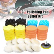 "51Pcs 3"" Inch 80mm Buffing Polishing Pad Buffer Kit For Electric Auto Polishers"