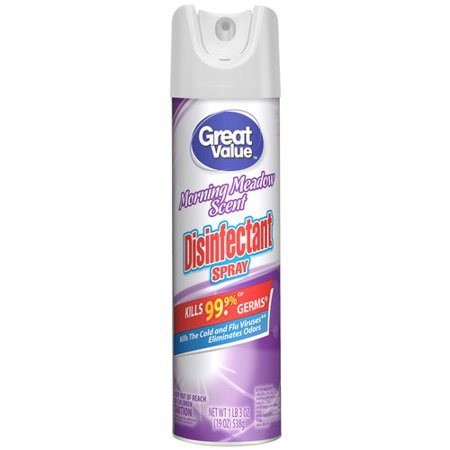 - (2 Pack) Great Value Disinfectant Spray, Morning Meadow Scent, 16 oz