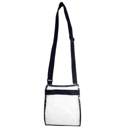 Clear Cross Body Bag See-Thru Jelly Messenger Purse Stadium Concert Transparent ()