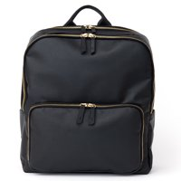 MOTILE™ Vegan Leather Commuter Laptop Backpack, Charcoal - Includes 10,000 mAh Qi-Certified Wireless Charger