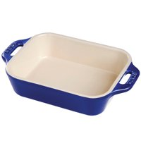 "Staub Ceramic 10.5"" x 7.5"" Rectangular Baking Dish - Dark Blue"