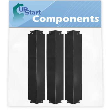 """3-Pack BBQ Grill Heat Shield Plate Tent Replacement Parts for Coleman G52203 - Compatible Barbeque Porcelain Steel Flame Tamer, Guard, Deflector, Flavorizer Bar, Vaporizer Bar, Burner Cover 16"""""""