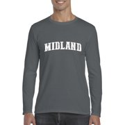 Midland TX Texas Flag Houston Map Longhorns Bobcats Home Texas State University Mens Long Sleeve Shirts