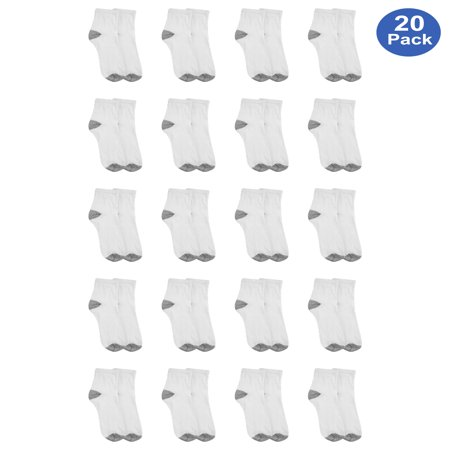Athletic Works Men's Athletic Cushioned Ankle Socks Value 20 Pack ()