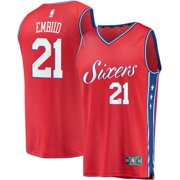 8ddc027c7 Joel Embiid Philadelphia 76ers Fanatics Branded Fast Break Replica Player  Jersey - Statement Edition - Red