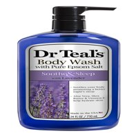 Dr Teal's Ultra Moisturizing Soothe & Sleep Body Wash with Lavender 24 oz. Pump