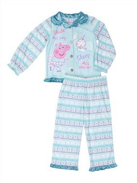 Peppa Pig Girls' 2-Piece Pajamas - blue, 2t