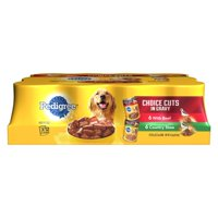 (3 Pack) PEDIGREE CHOICE CUTS in Gravy With Beef and Country Stew Adult Canned Wet Dog Food Variety Pack, (12) 13.2 oz. Cans