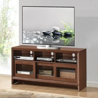 "Techni Mobili 55"" Modern TV Stand for TVs up to 65"" with Storage, Hickory (RTA-8811-HKY)"