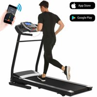 Treadmill Folding for Home, Running Machine, Fitness Motorized Treadmills, Smartphone APP Control, Bluetooth, Top Speed 12 KM/H (US Stock)
