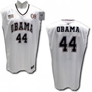 RapDom President Barack Obama  44 Mens Basketball Jersey  White - L  cf0724f86