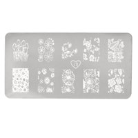 Fingernails Flower Printed Stencil Template Painted Plate Gel Nails Tool 1 Sheet
