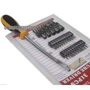 31PC FLEX BEND CABLE SHAFT SCREWDRIVER DRIVER HAND TOOL BIT FLEXIBLE BENDABLE, 31PC FLEX BEND