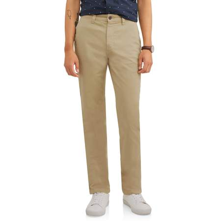 Mens Chino Pants Khaki (Men's Slim Straight Chino Pant )