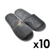 7d1ea6300 Foldable Towelling Cloth Slipper   Shoe Covers Non-Skid Home Salon Spa  Hotel Disposable Open