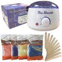 Stardget Wax Warmer Hair Removal Kit with Hard Wax Beans and Wax Applicator Sticks