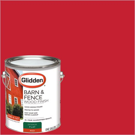Glidden Grab N Go Barn Fence Exterior Paint Red Flat Finish 1 Gallon