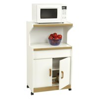 Ameriwood Microwave Cabinet With Shelves, White