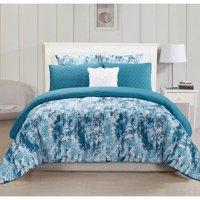 Staas 6 Piece Oversize & Overfilled Queen Comforter Set in Grey