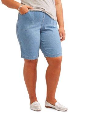 Women's Plus Size 4 Pkt Bermuda Short