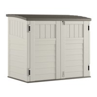 Suncast 34 cu. ft. Horizontal Storage & Utility Shed, Vanilla, BMS2500