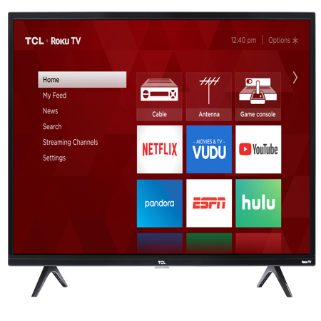 - TCL 40 Class HD (1080P) Roku Smart LED TV (40S325)