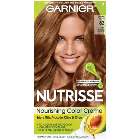 Garnier Nutrisse Nourishing Hair Color Creme (Browns), 63 Light Golden Brown (Brown Sugar), 1 kit Bobbi Brown Creamy Color