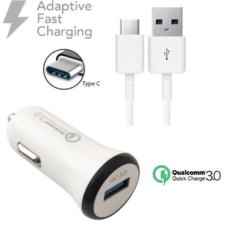 For LG Stylo 4 Adaptive Fast Car+Wall Charger+USB Charging
