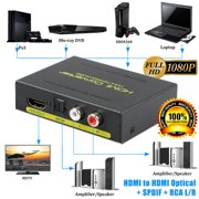 1080P HDMI to HDMI Optical Splitter+SPDIF+RCA L/R Extractor Converter For HDTV XBOXONE PS4