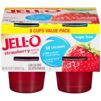 Jell-O Strawberry Low Calorie Gelatin Snacks Value Pack, 8 count, 25 oz