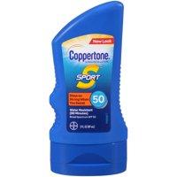 (3 pack) Coppertone Sport Sunscreen Lotion SPF 50, 3 fl oz Travel Size
