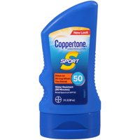 (3 pack) Coppertone Sport Sunscreen Lotion SPF 50, 3 fl oz Travel Size