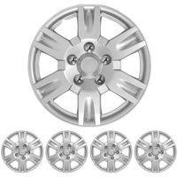 "BDK Hubcaps Wheel Cover, 17"" Silver Replica Cover, OEM Replacement, 4 Pieces"