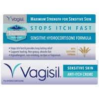Vagisil Anti-Itch Vaginal Creme, Maximum Strength with Benzocaine 20% for Instant Long Lasting Relief from Intense itch, 1 Ounce