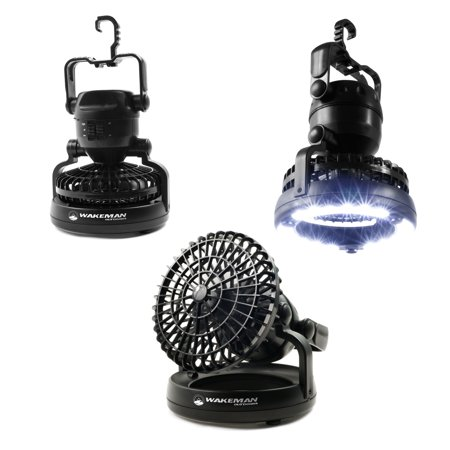 Battery Operated Fan Walmart (Whetstone 2-in-1 Tent LED Camping Ceiling)