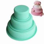 3-Layer Round Silicone Cake Mold Pan Muffin Chocolate Pizza Pastry Baking Tray Mould baking