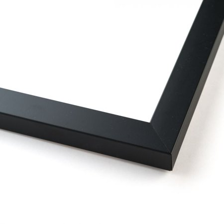 20x44 Black Wood Picture Frame - With Acrylic Front and Foam Board Backing
