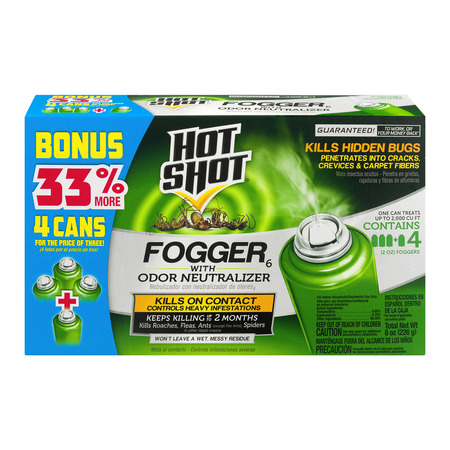 Hot Shot Fogger With Odor Neutralizer, (Best Flea Bombs)