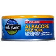 (4 Pack) Wild Planet Wild Albacore Tuna No Salt, 5 oz Can